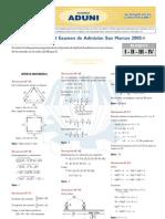 SOLUCIONARIO DE LAS SUB PRUEBAS DE APTITUD VERBAL Y MATEMÁTICA DE LA PRUEBA DE INGRESO DE SAN MARCOS 2005