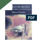 EL MITO DE PROTEO, Marco Ornelas, 1°Ed,  2008