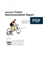 Bicycle Trainer Recommendation Report