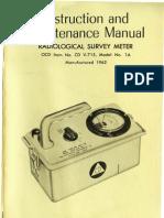 Radio Logical Survey Meter CD v-715 No 1A