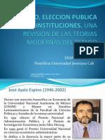 Mercado, Eleccion Publica e Instituciones