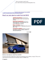 Brazil Car Sale Data by Model First Half 2010 _ Autoten