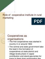 Role of Cooperative Institute in Rural Marketing