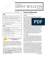 ES Parent Bulletin Vol#3 2011 Sep 9