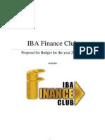 IBA Finance Club Proposal