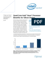 Quad Core Intel Xeon Processor Benefits for Silicon Design