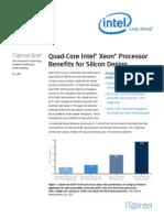 Quad Core Intel Xeon Processor Benefits for Silicon Design