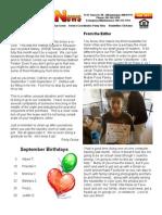 Solar Villa Newsletter September 2011