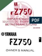 FZ750 Owner Manual