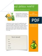 Go Green XFT Party Invite