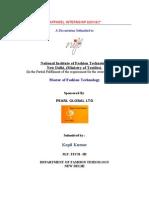 Apparel Internship Report- Headings