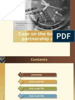 Case on the Basis of Partnership Deed