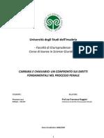 Carrara e Chiavario - Un Confronto Sui Diritti Fond Amen Tali Nel Processo Penale