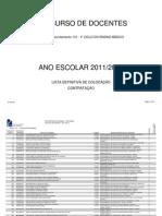 110 - 1º Ciclo do Ensino Básico colocaçao