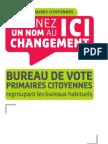 Affiche Bureau de vote 2