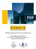 Ethica Training and Certification Capabilities