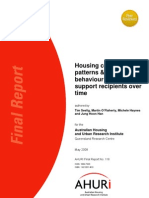 AHURI Final Report No118 Housing Consumption Patterns and Earnings Behaviour of Income Support Recipients Over Time