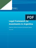 Legal Framework for Investments in Argentina 2009 - ProsperAr