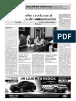 Santa Cruz vuelve a reclamar al Gobierno datos de contaminación (17-10-2009)