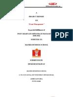 46901108 Mahindra Mahindra Project Report