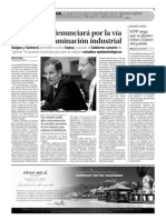 Ciudadanos denunciará por la vía penal la contaminación industrial (07-09-2010)