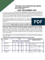 ONGC Recruitment 2011 738 Graduate Trainees Vacancies 1