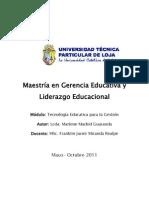 Tecnología Educativa . UTPL