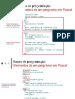 Elementos de Um Programa Em Pascal