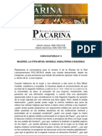 "Revista Latinoamericana PACARINA. Convocatoria N° 2. ""Mujeres, la otra mitad. Subalternas, invisibles e inaudibles"""