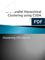 GPU CUDA Parallel Hierarchical Clustering Cluster Update Algorithm