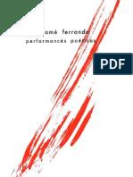 Perform Are] Bartolom Ferrando - Performances Poéticas