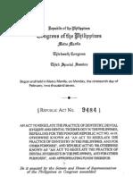 Ra 9484 Original Document Signed