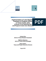 ACLU/Texas Jail Project Report On Shackling Law Implementation