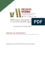 Informe de Actividades_VII Encuentro