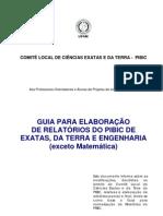 Modelo Para Relatorio de PIBIC