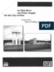 Analysis of the Flint River as a Permanent Water Supply for the City of Flint - July, 2011