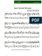 Himno Nacional Mexicano - Partitura fácil para piano