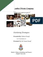 Marketing Plan (Leather manufacturing)
