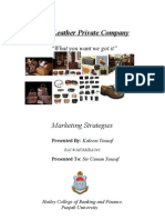 Marketing Plan (Leather manufacturing)