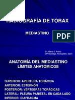 RADIOGRAFÍA DE TÓRAX. PATRONES RADIOLÓGICOS. MEDIASTINO