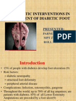Therapeutic Interventions in Management of Diabetic Foot