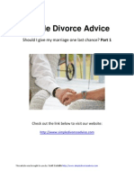 Simple Divorce Advice