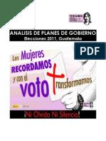 Unamg, Analisis Planes de Gobierno, 2011