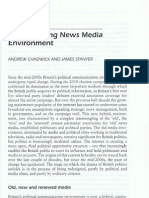 Chadwick and Stanyer the Changing News Media Environment in the UK 2011