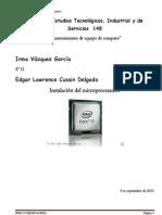 Instalación del microprocesador