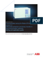 1MRK505260-UEN C en Communication Set-up for RED670 Differential Protection in Telecommunication Networks