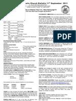 Bulletin 110911