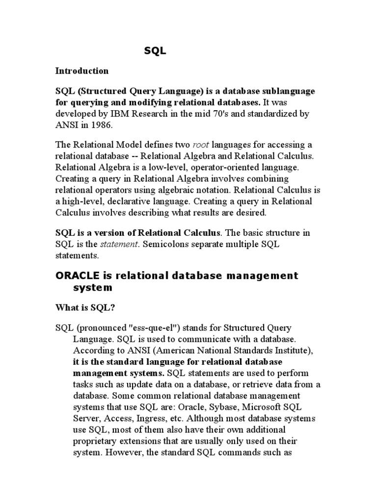 Sql part1 sql relational database baditri Image collections