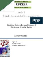 Aula 1 Estudo dos metabólitos secundários