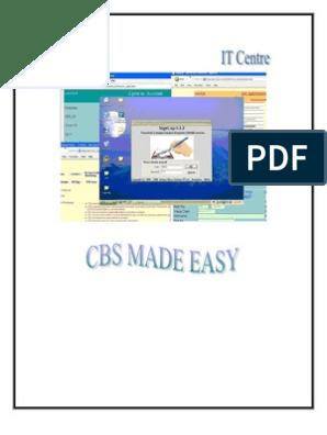 CBS manual   Menu (Computing)   Banks